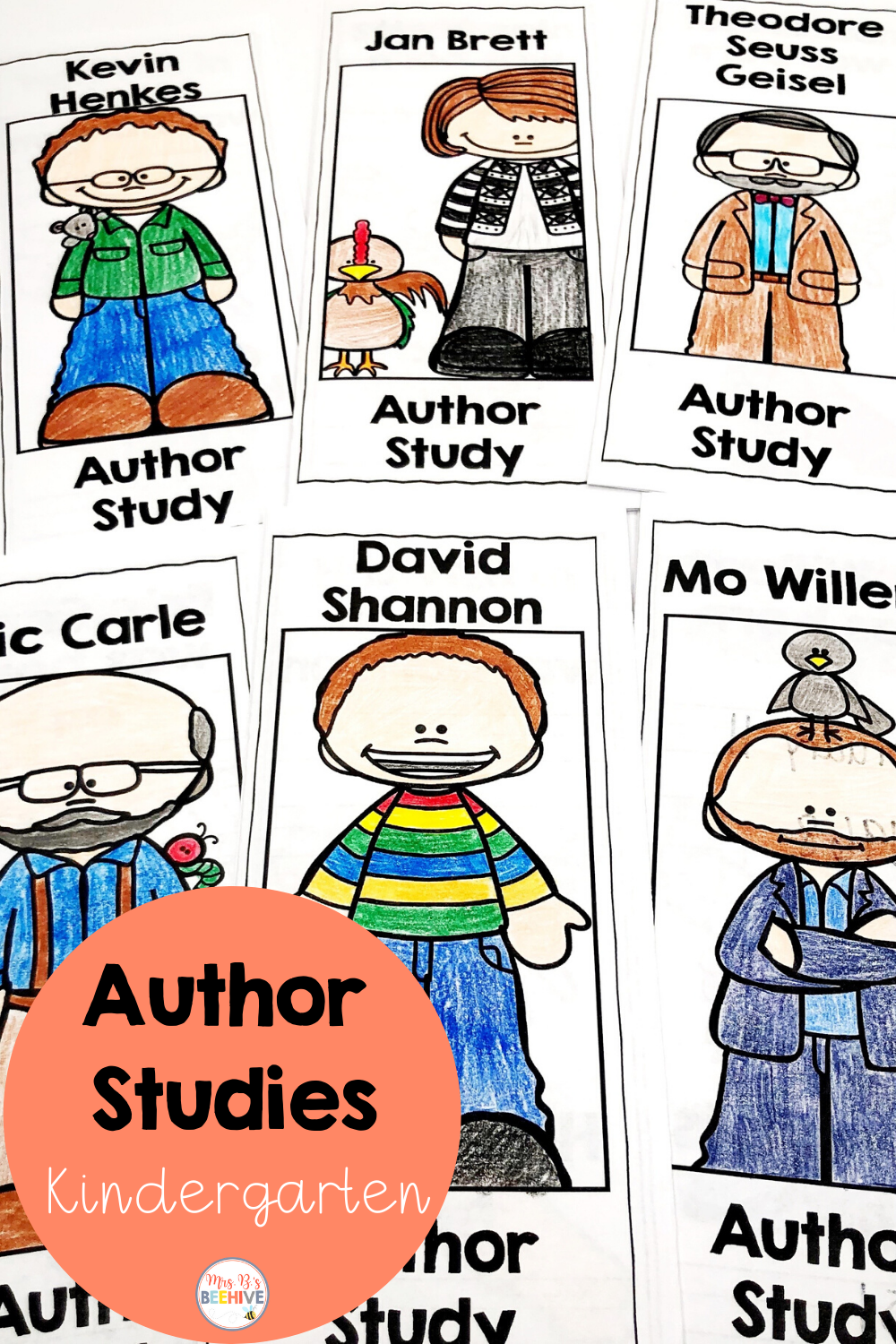 Author Studies For Kinder And First In 2020 Author Study Kindergarten Author Studies Kindergarten Resources [ 1500 x 1000 Pixel ]