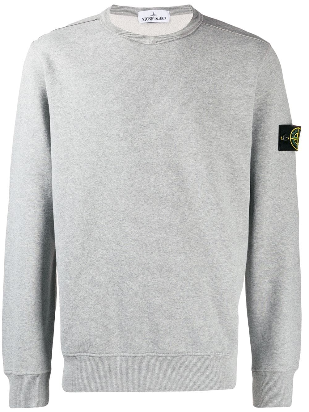 Ribbed Crew Neck Jumper In Grey Crew Neck Jumper Stone Island Island Outfit