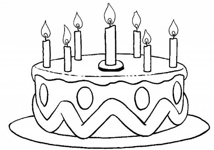 Birthday Cake Candles Coloring Pages | Process art ...
