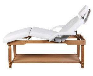 3 Sections Professional Stationary Massage Table Bed Beauty