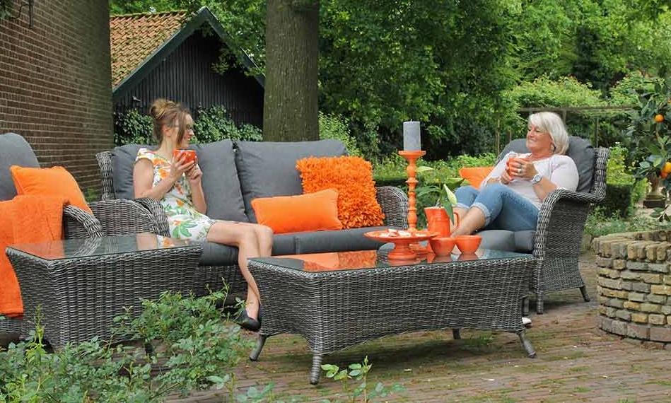 Wicker Rotan Tuinstoelen.Tuinmeubelen Wicker Rotan Loungeset Lounge Tuinset Tuinmeubel