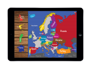 Solve europe puzzle  #education #iPad #iPhone #geography #educational apps #apps #puzzle #homeschool