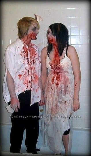 Last-Minute Wedding Zombies Halloween Couple Costume Zombies - halloween horror costume ideas