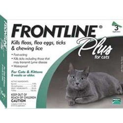 31 47 0 00 Frontline Plus 3 Month Cat Keep Your Cats Claws On The Scratching Post And Off Their Delicate Cat Fleas Cats And Kittens Frontline Plus For Cats