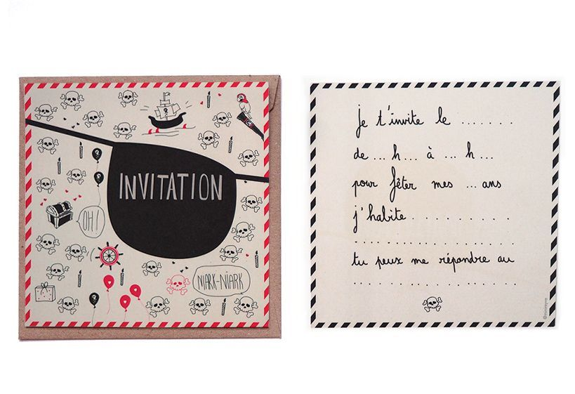 8 Cartes D Invitation Anniversaire Pirate Fathers Day