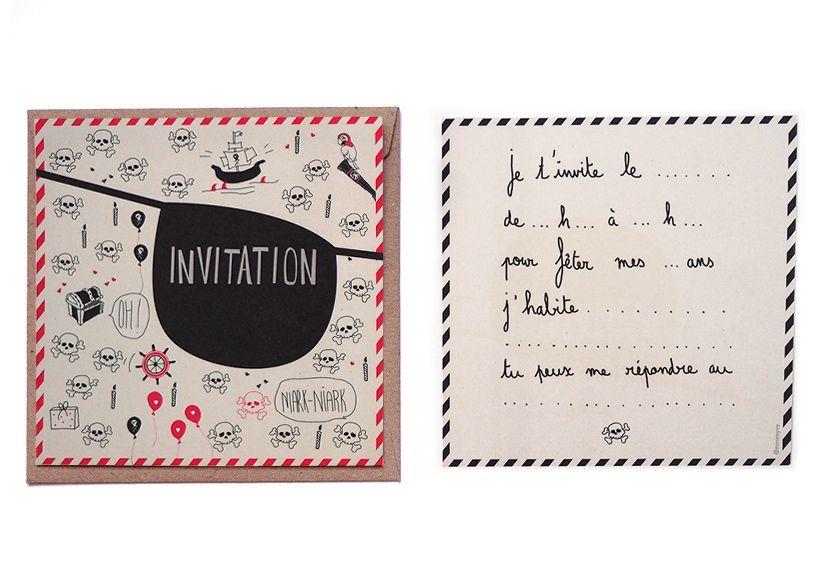 carte invitation anniversaire pirate pirate pinterest carte invitation anniversaire. Black Bedroom Furniture Sets. Home Design Ideas
