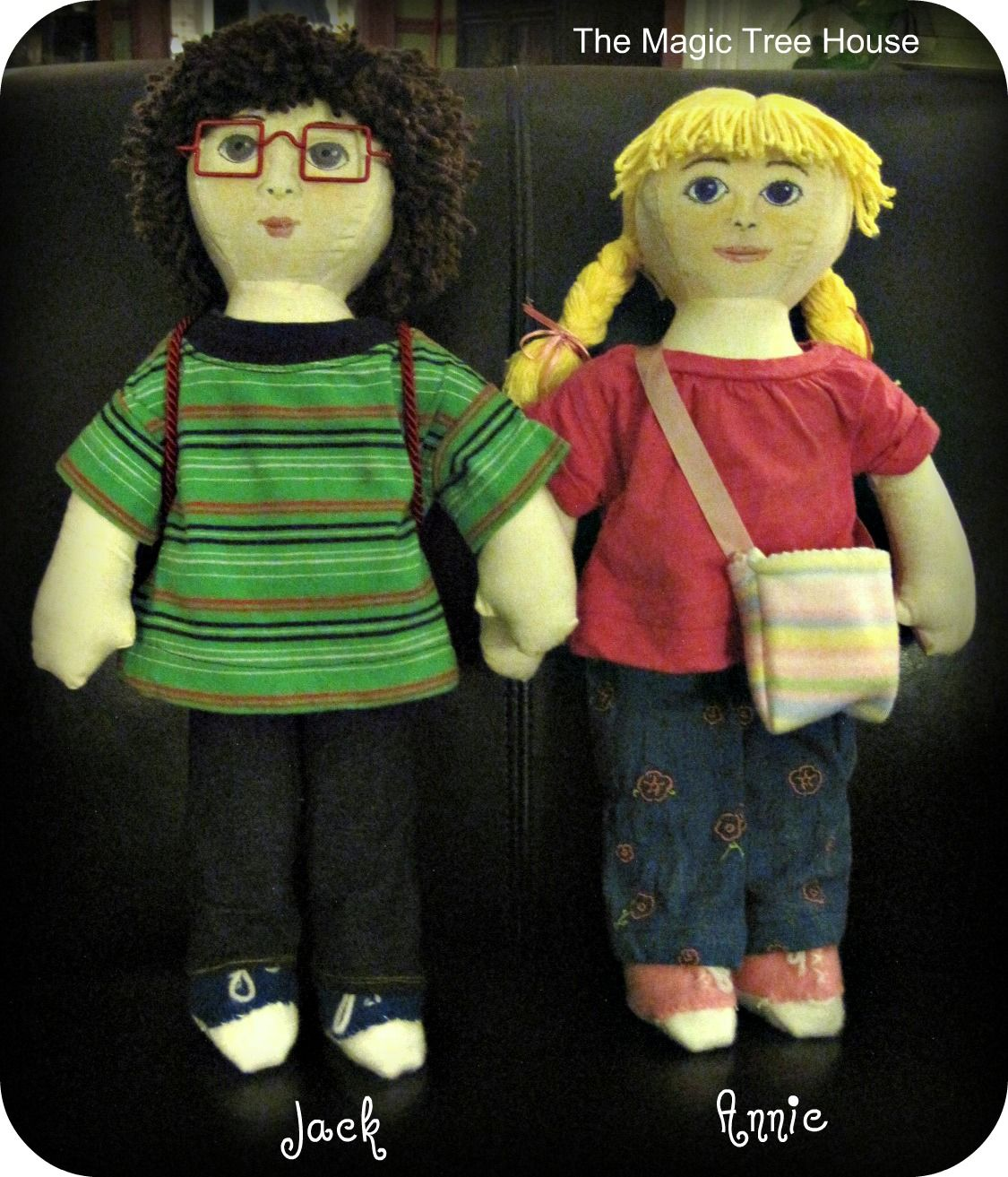 jack and annie dolls from the magic tree house! | stuff i made