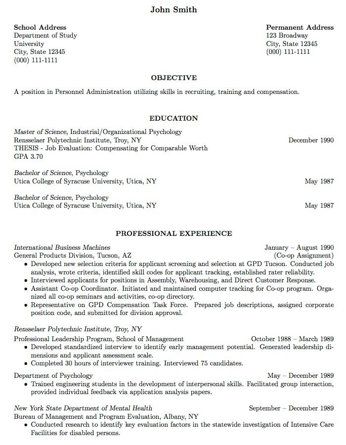 Sample Resume For College Student Supermamanscom -   www