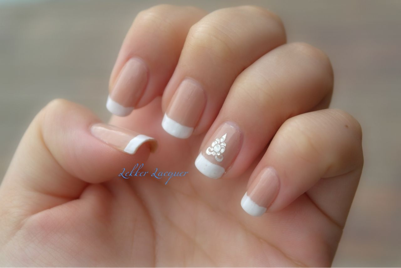 French manicure with accent nail flourish. | Tips | Pinterest ...