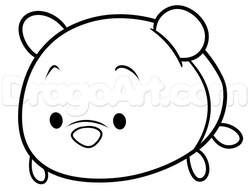 How To Draw Tsum Tsum Winnie The Pooh Step 5