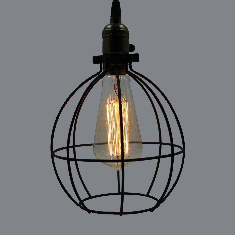Claxy ecopower light vintage style industrial hanging light mini