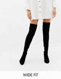 1a94e8ff304 DESIGN Wide Leg Kassidy heeled thigh high boots in 2019