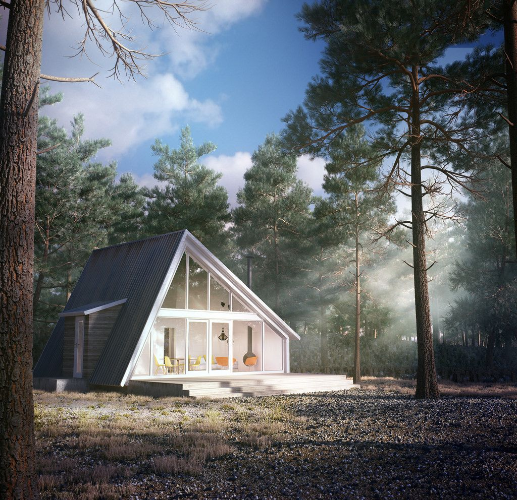 Pine House Renders House Design Cabin Design A Frame