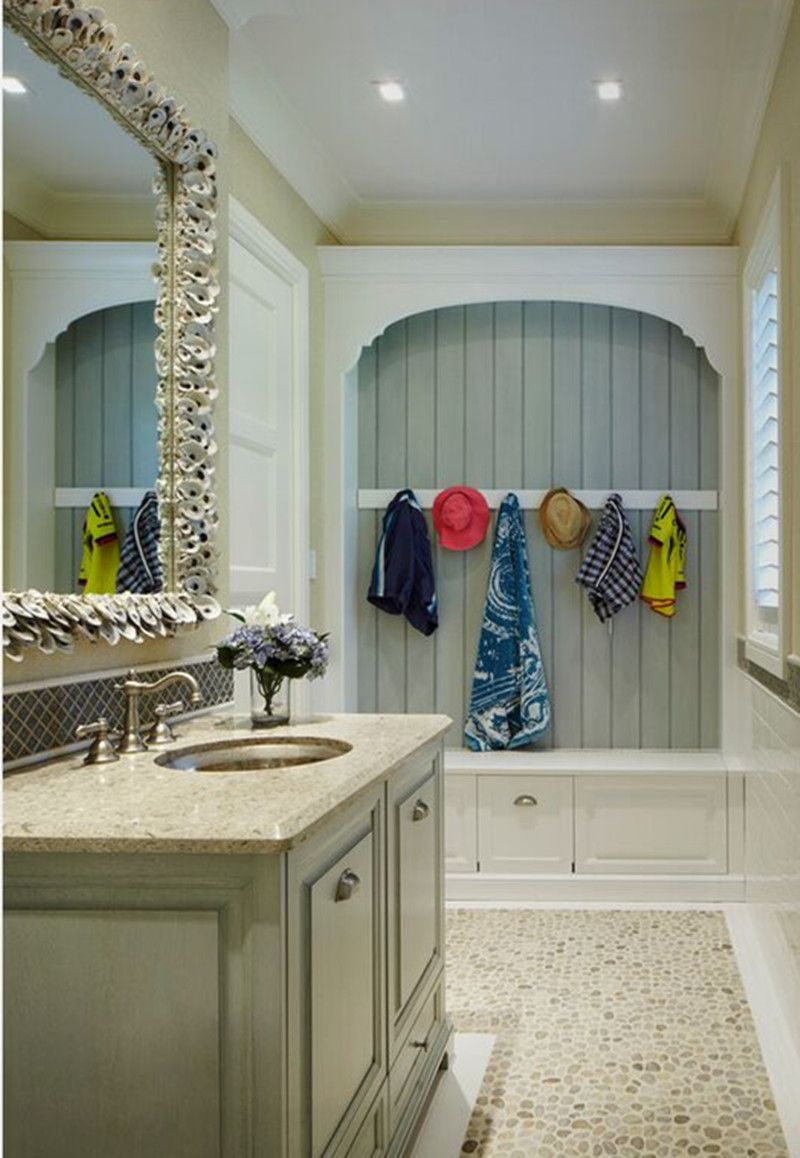 a natural style bathroom Powder room design, Bathroom