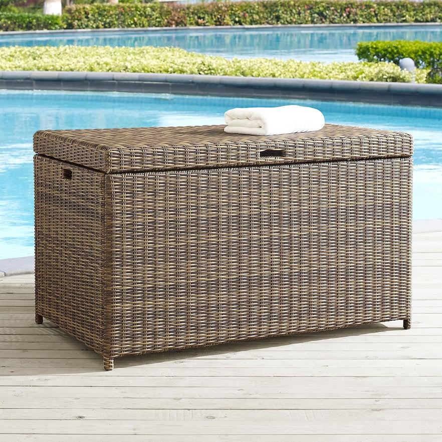 Crosley Furniture Bradenton Patio Wicker Storage Bin Storage Bins Wicker Outdoor Cushions
