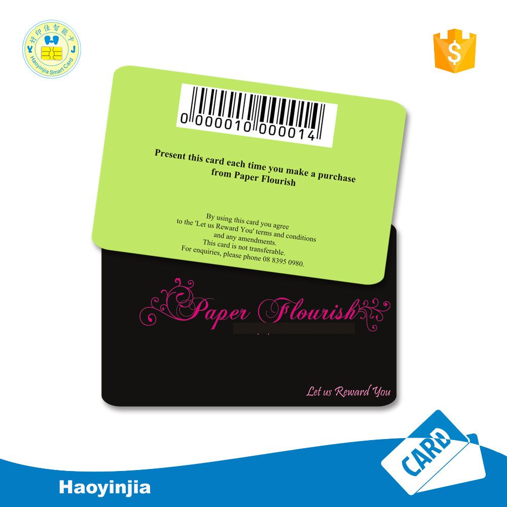 Cr80 Size Plastic Gift Cards Loyalty Card With Barcode View