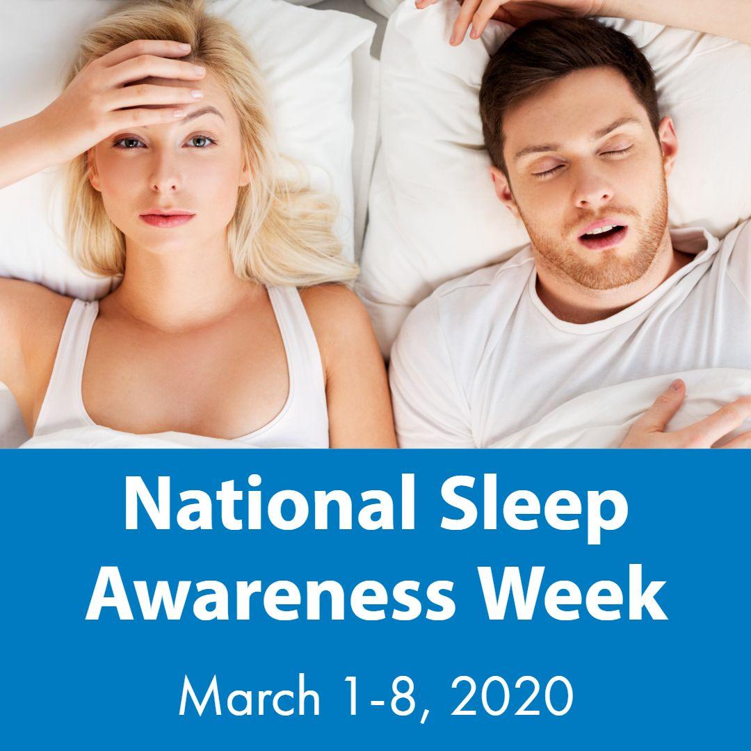 It's NationalSleepAwarenessWeek! It's estimated that 80