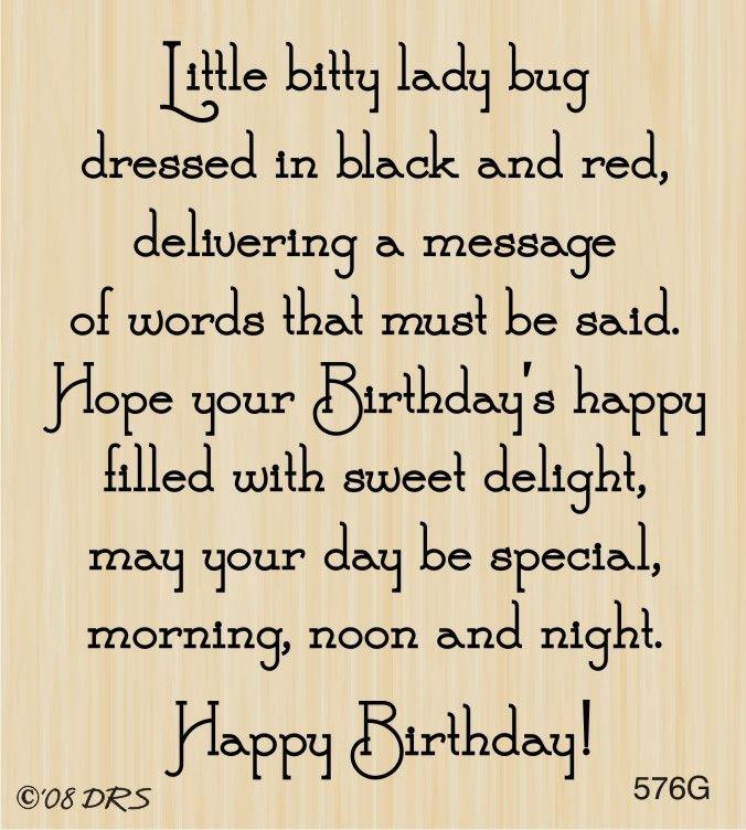 Ladybug Birthday Greeting - 576G