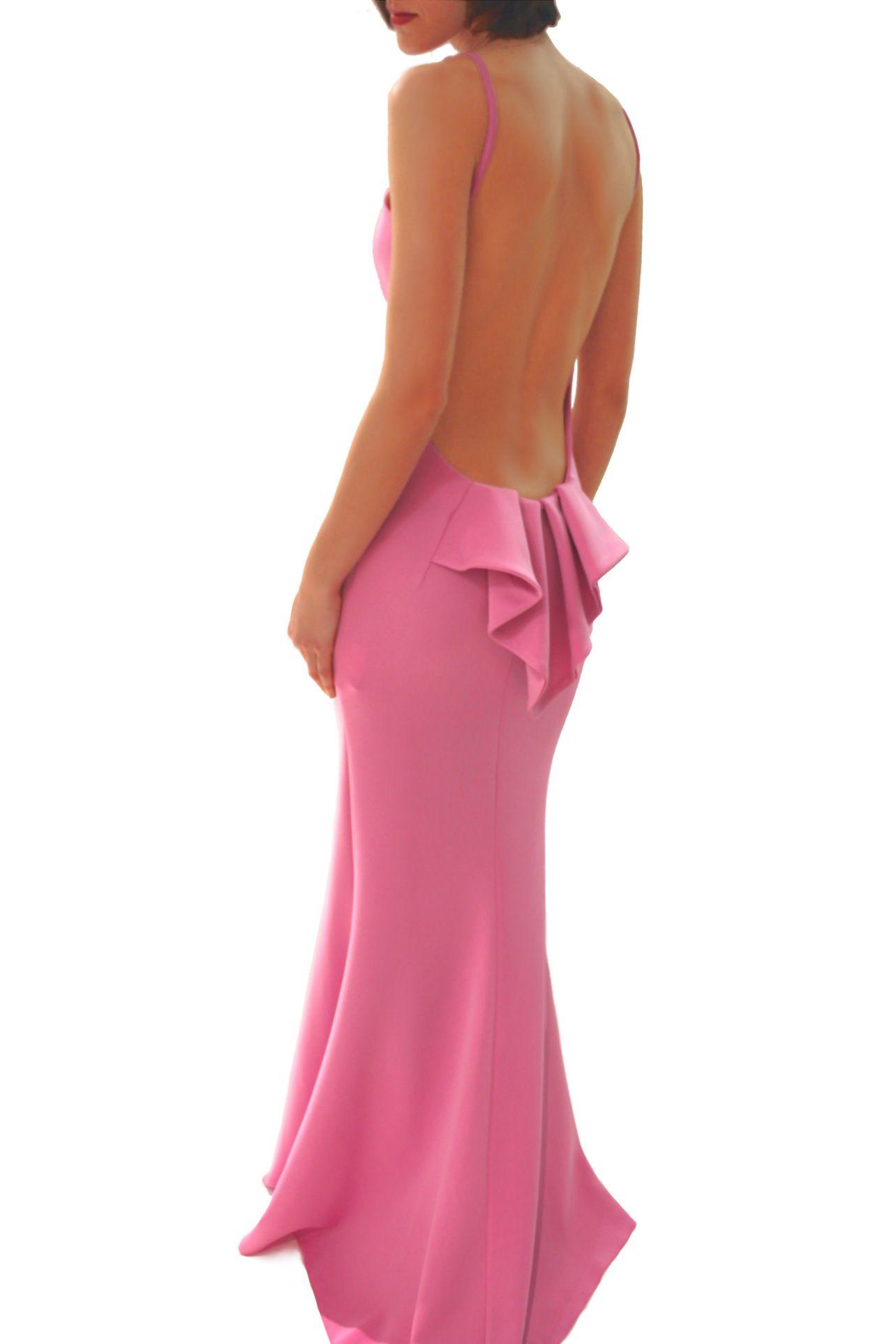 Vestido Largo Rosa con Espalda Abierta 59.90€ en www ...