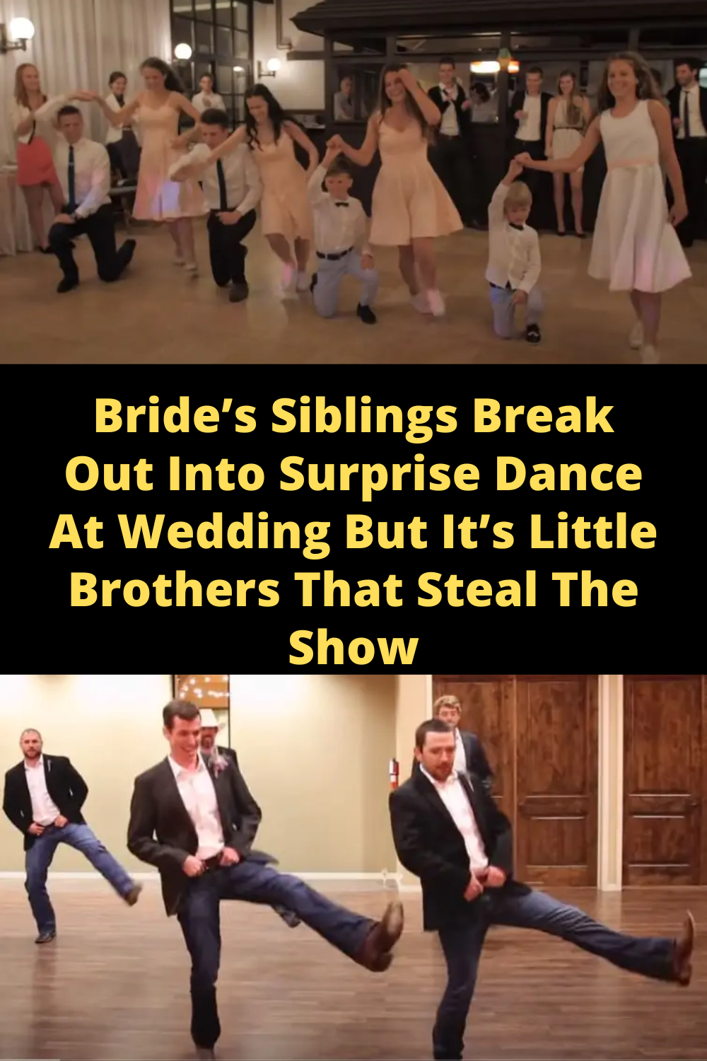 Bride S Siblings Break Out Into Surprise Dance At Wedding But It S Little Brothers That Steal The Show Surprise Dance Little Brothers Funny Romantic Quotes