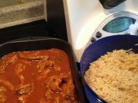 Rezept Schaschliktopf mit Reis und feuriger Soße von Birgit89 - Rezept der Kategorie Hauptgerichte mit Fleisch