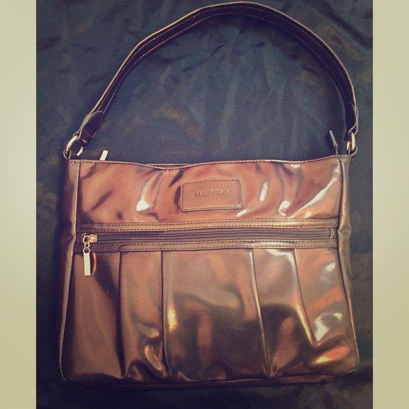 Mary Kay Metallic Bronze Handbag Handle Drop Is 9 Measures 13 In Length 2 Width And 19 Height
