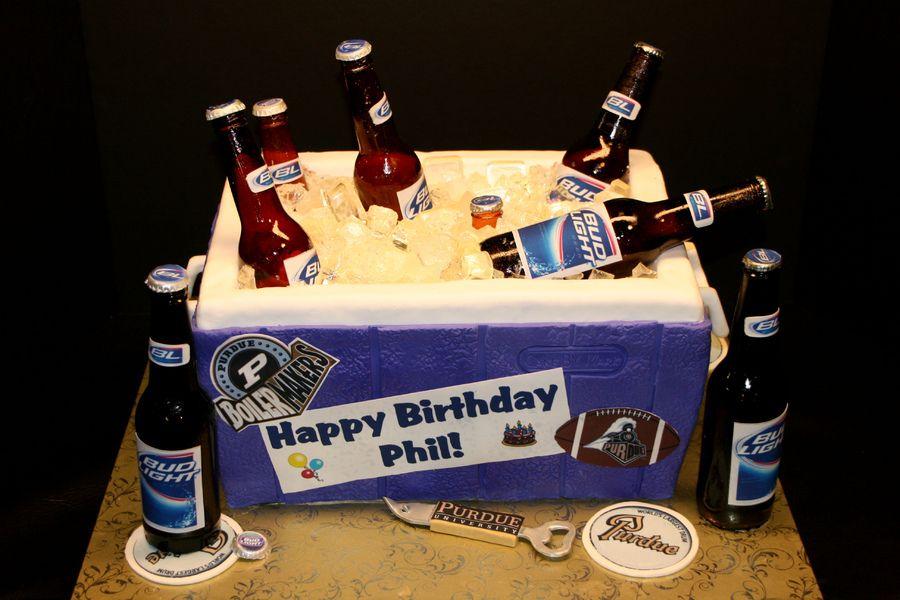 Sensational Beer Cooler Surprise Birthday Cake Birthday Cake Beer Beer Funny Birthday Cards Online Elaedamsfinfo