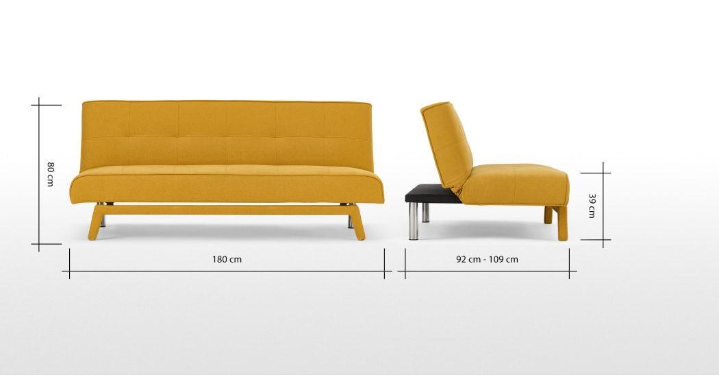 Made Com Canapes Lits 3 Places Jaune Sofa Bed Sofa 3 Seater