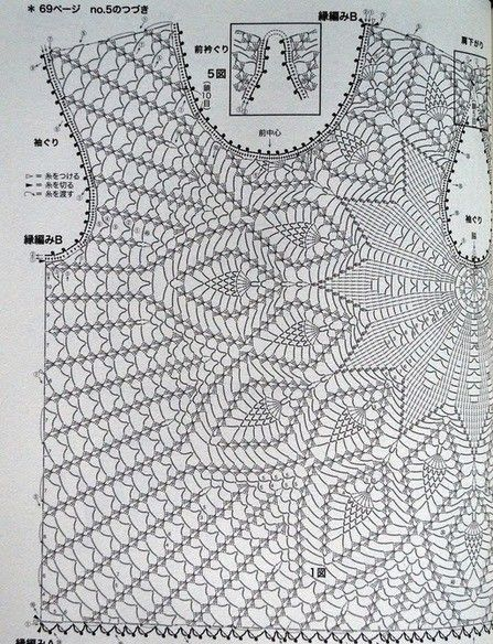 Crochet Blouse In Yarn Made With A Step By Step Facilitating The