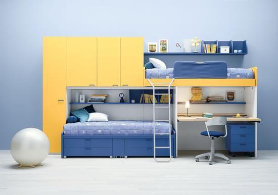 Dormitorios para adolescentes varones for Habitaciones juveniles funcionales