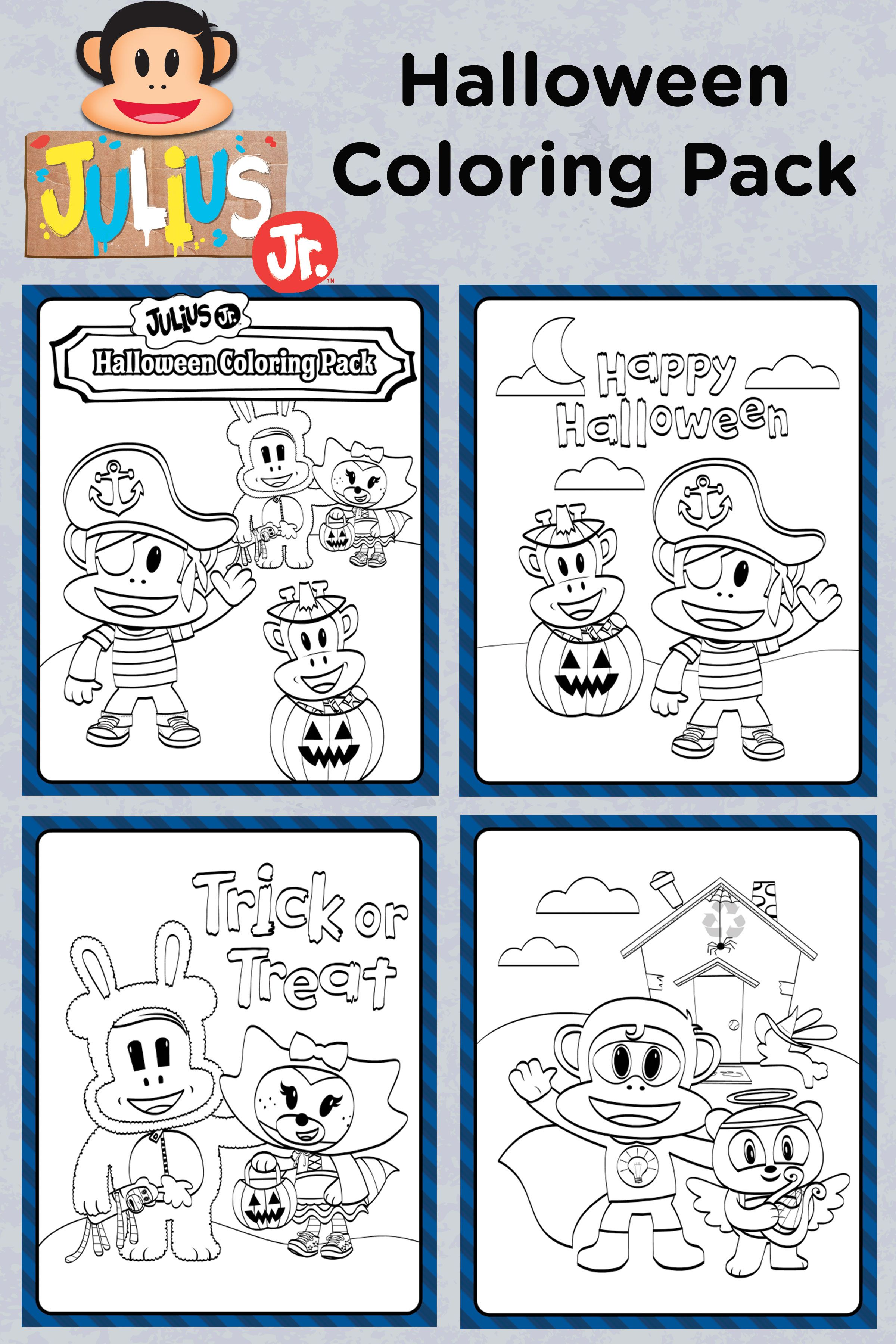 Get Ready For Halloween By Coloring In These Pictures Of