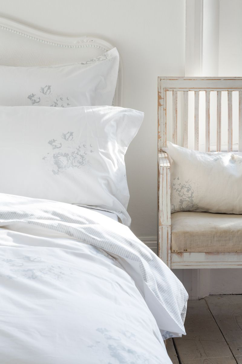Cabbages Roses For John Lewis Hatley Dove Bed Linen Bed