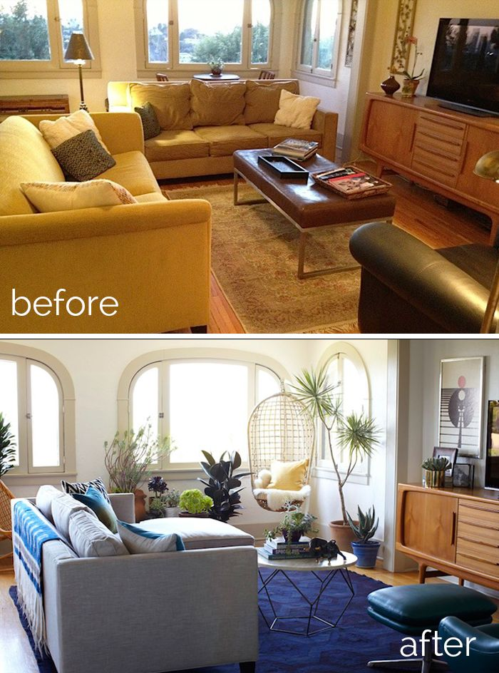 My favorite Makeovers of the year; a roundup Living Rooms