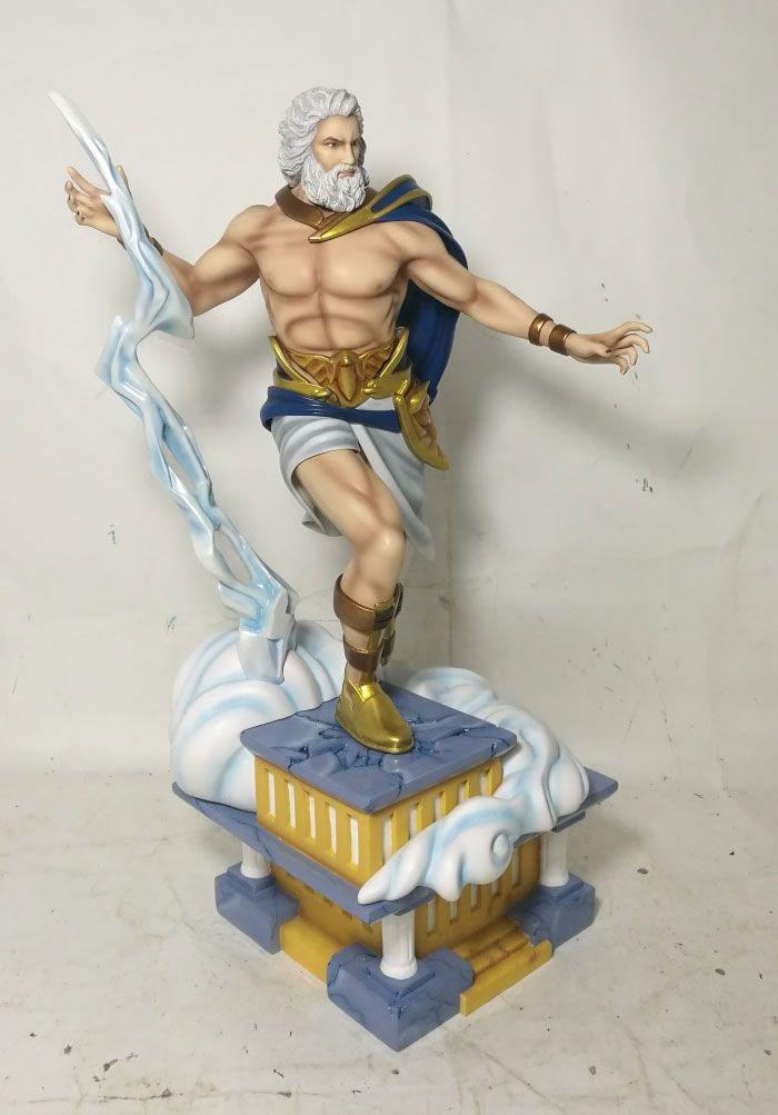 Zeus Greek God Fantasy Figure Gallery Greek Mythology 1 6 Scale Statue Zeus Greek God Fantasy Figure Gallery 1 6 Scale S Fantasy Figures Greek Myths Zeus Greek