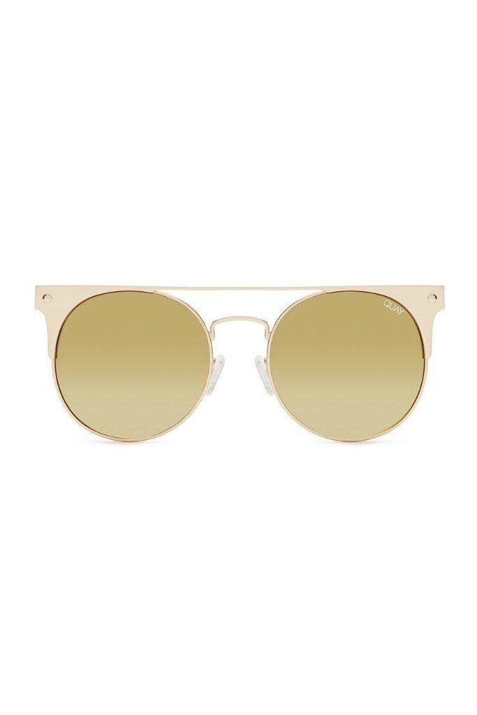 9d227c3ae Quay Australia THE IN CROWD Gold Mirror Designer Sunglasses | NEW ...