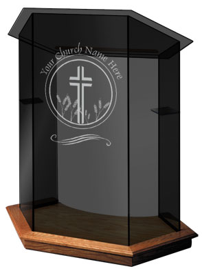 Church Furniture Store   Foundation Glass Pulpit,  (http://www.churchfurniturestore