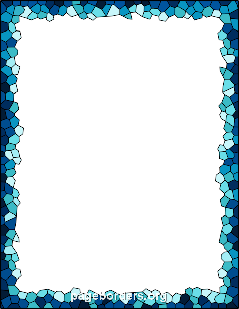 Printable mosaic border. Use the border in Microsoft Word ...
