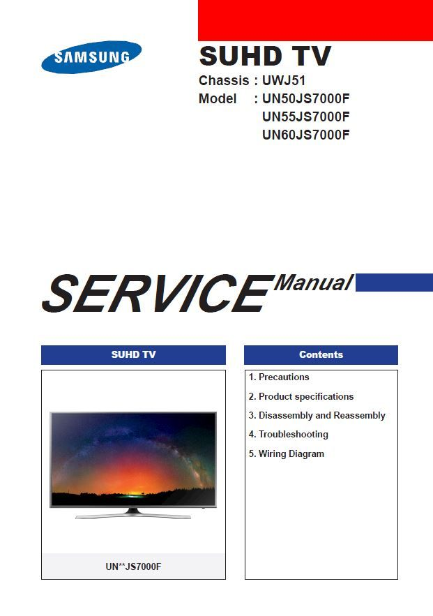 samsung un60js7000 un60js7000f un60js7000fxza service manual rh pinterest com Samsung Smart TV 50 Samsung TV Owner Manuals
