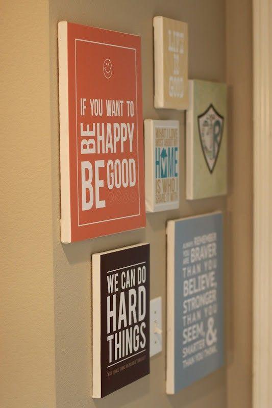 50 DIY wall art tutorials | create | Pinterest | Scrapbook paper ...