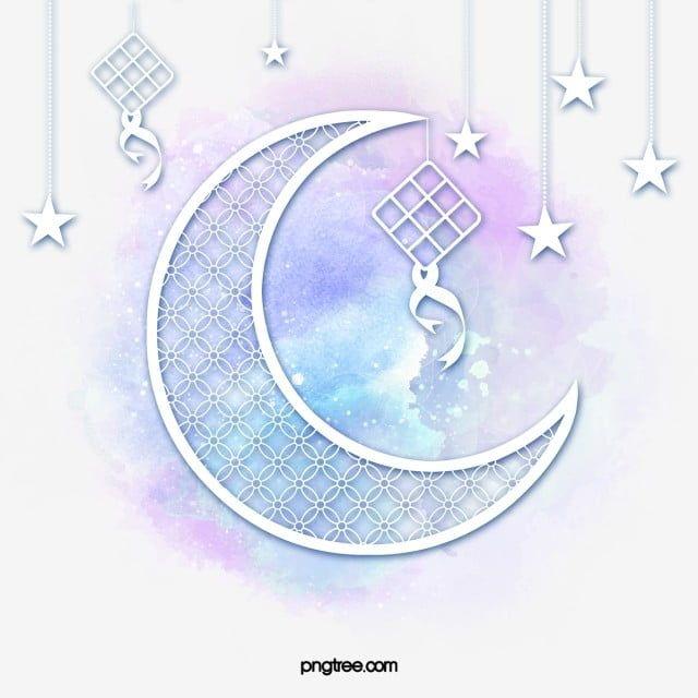عيد الهلال قمر جديد عيد الفطر سعيدة Png وملف Psd للتحميل مجانا How To Draw Hands Moon Drawing Star Art