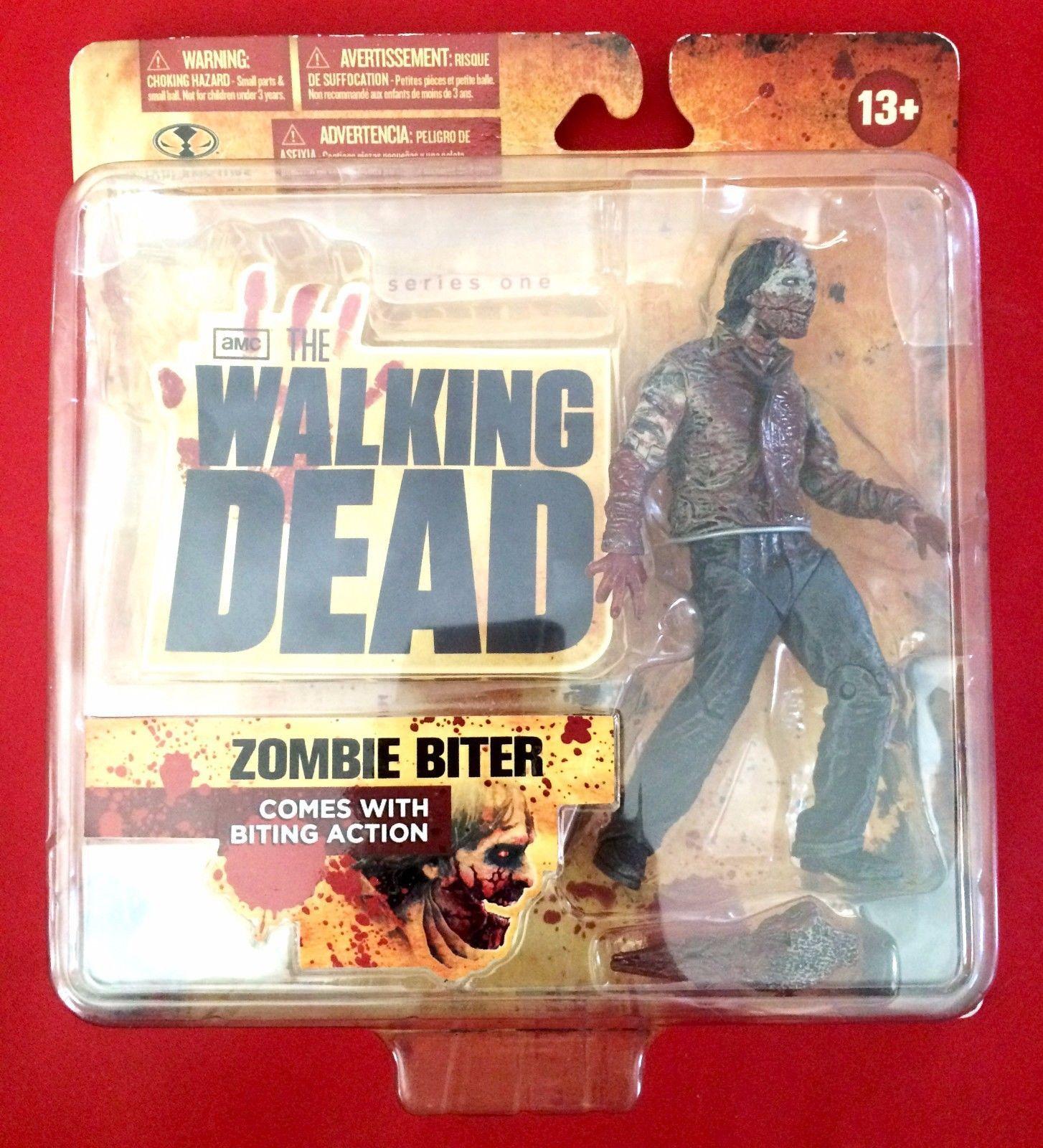 Walking Dead Zombie Biter Action Figure Series 1 Mcfarlane Toys 2011 New Sealed Thewalkingdead Wa Horror Action Figures Walking Dead Series The Walking Dead