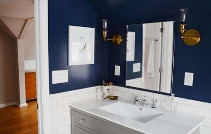 bathroom blue accents navy 23+ ideas | trendy bathroom