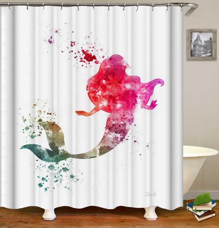 The Little Mermaid Colorful Splash Shower Curtain With Images