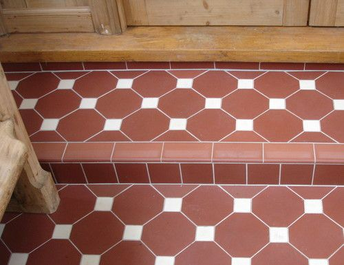 P Poss 130 X Fired Earth Victorian Floor Tile Inserts