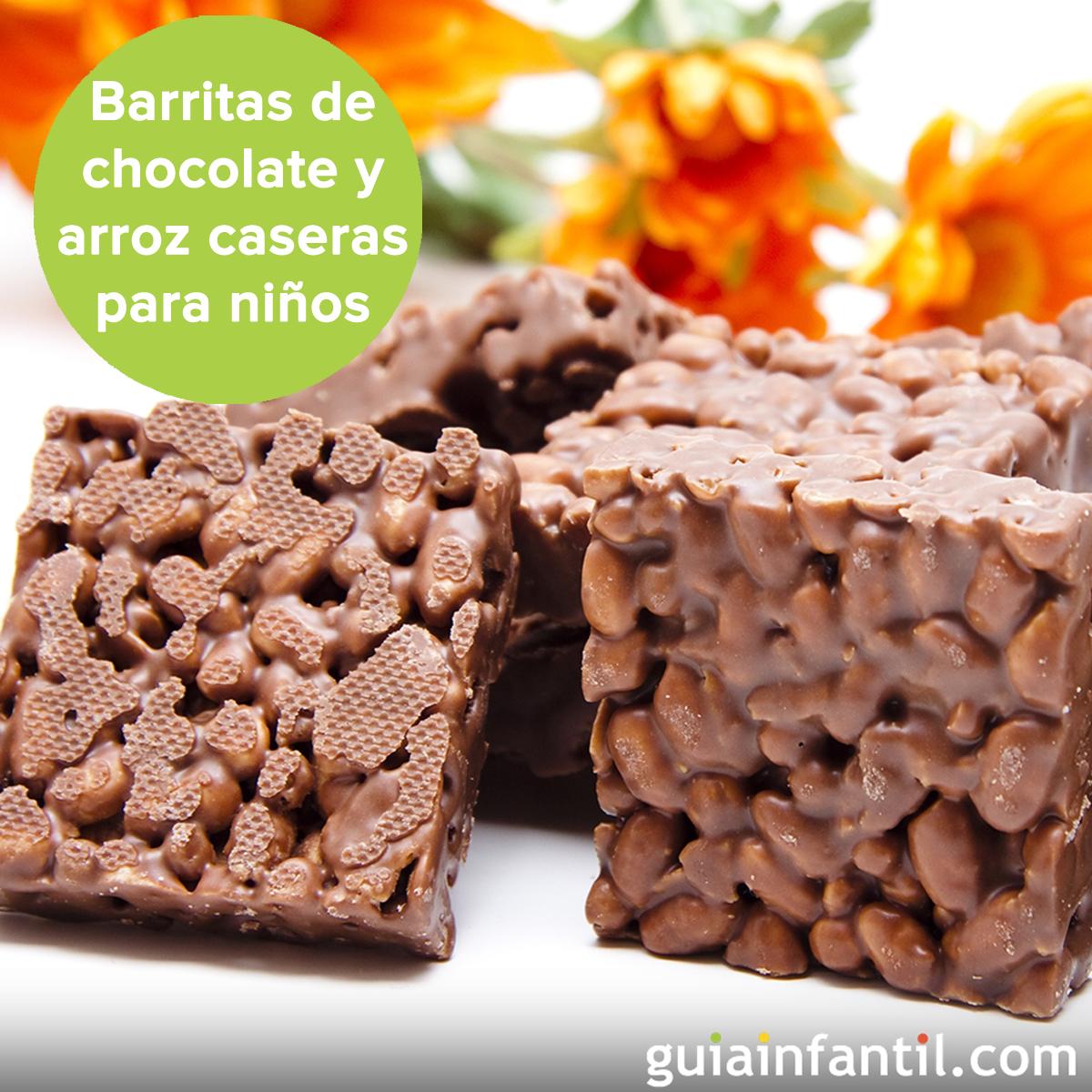 Barritas de arroz con chocolate, ¡deliciosas para la merienda! http://www.guiainfantil.com/recetas/postres-y-dulces/chocolate/receta-de-barritas-con-nocilla-y-arroz-para-merendar/