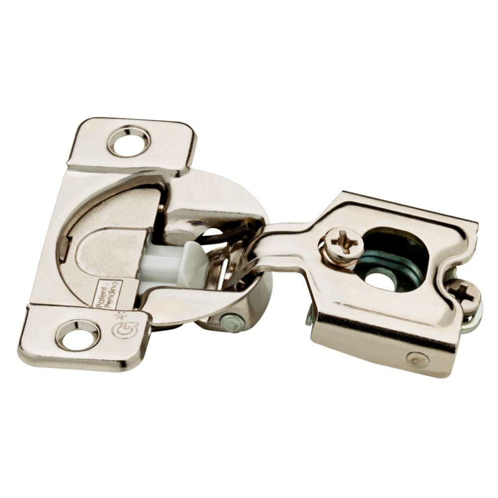 Liberty 35 Mm 105 Degree 1 2 In Overlay Soft Close Cabinet Hinge 5 Pairs H1530sl Np U1 The Home Depot Hinges For Cabinets Franklin Brass Concealed Hinges
