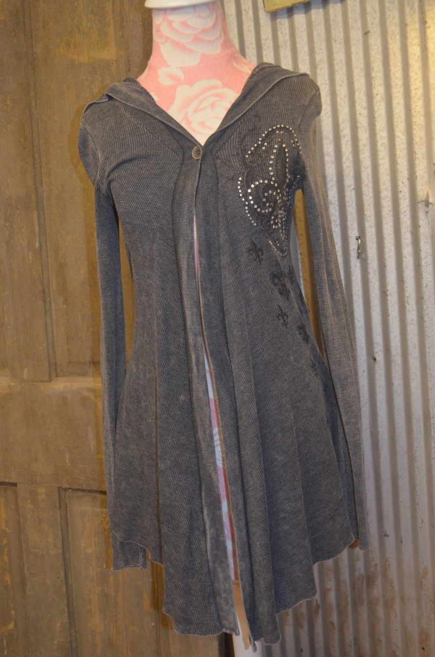 Cowgirl Clad Company - L/S Gray Studded FDL Hoodie, $46.00 (http://www.cowgirlclad.com/l-s-gray-studded-fdl-hoodie/)