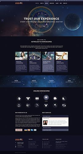 Zodiac Astrology Joomla template ID: 300111893 | Graphic