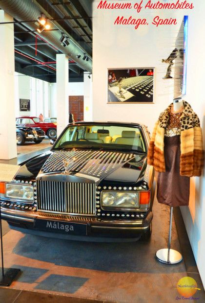 A Swarovski crystal crusted Rolls Royce, part of the 25 million dollar collection of Malaga's auto museum.