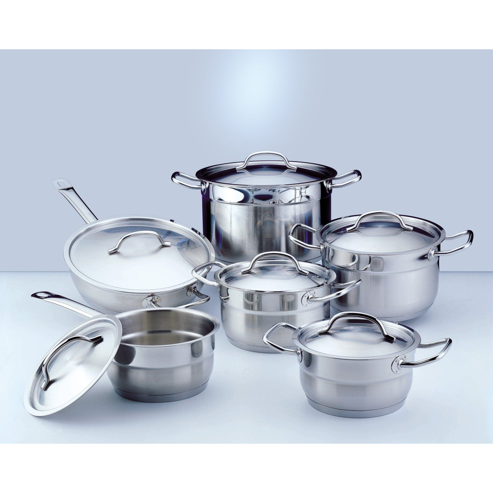 Berghoff Hotel Line 12 Piece Cookware Set Cookware Set Stainless Steel Cookware Cookware Set Stainless Steel